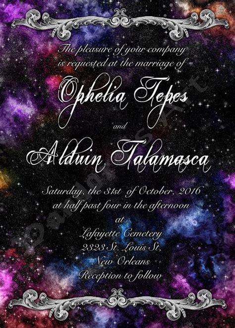 galaxy nebula space themed wedding invitation save by pandorasart wedding