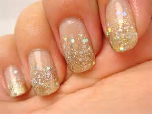pics photos glitter gold nail design