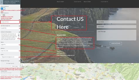 section 8 contact info aglee pro documentation 8degreethemes