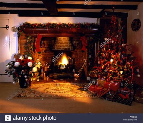 Elegant Mantel Decorating Ideas by Traditional English Country Cottage Inglenook Fireplace