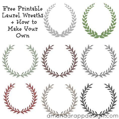 wreath template printable amanda rapp design free printable laurel wreath how to