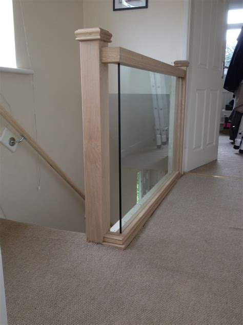 Glass Landing Banister by Woodcraft Products 100 Feedback Carpenter Joiner In