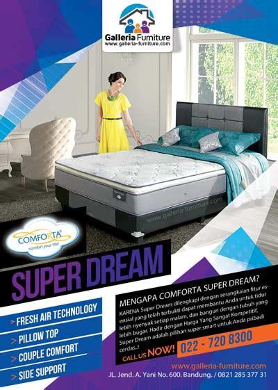 Bed Comforta Bandung review daftar harga diskon bed comforta