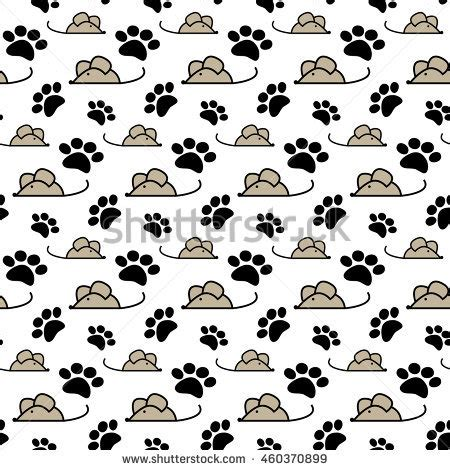 Rol Cat Motif 7 mouse hunt stock images royalty free images vectors