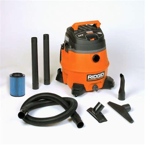 14 gallon ridgid shop vac ridgid 16 gallon 6 5 hp vacuum with cart pro