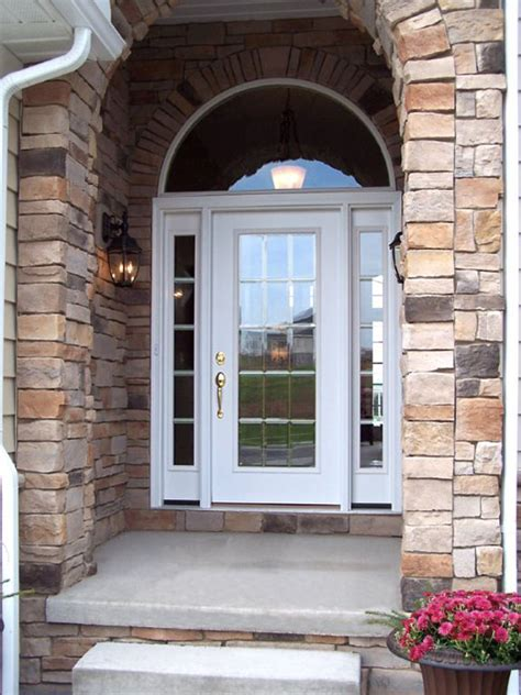 Replacing Exterior Doors Glass Entry Doors St Louis With Sidelights Entrance