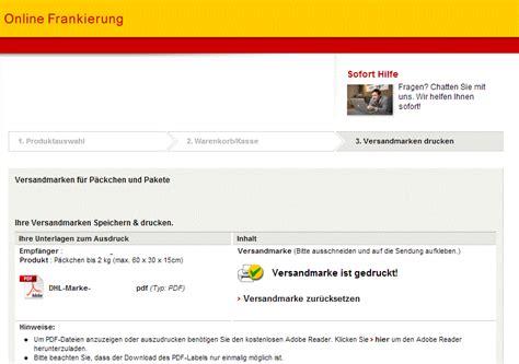 Versandetikett Drucken Dhl by Versandetiketten Erneut Drucken Ebay Community