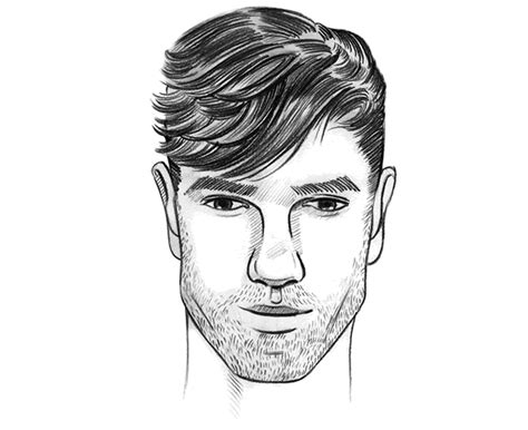 shaping hair the top of forehead for men the perfect men s hairstyle haircut for a diamond face