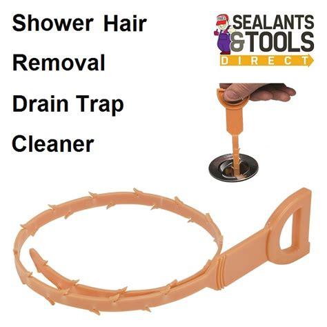 blocked waste pipe bathroom shower hair drain trap sink waste pipe unblocker cleaner blocked clearer tool ebay