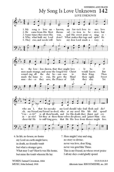 my song my song is unknown hymnary org