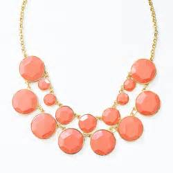 Bauble necklace bauble box bib double strand necklace two tier