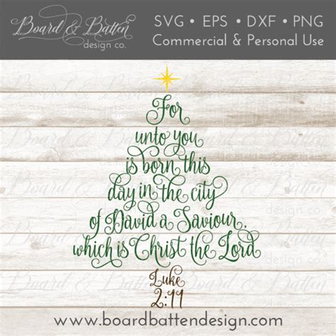 images of christmas trees with scriptures scripture tree luke 2 11 svg file board batten design co