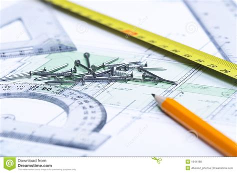 floor plan tools floor plan and tools royalty free stock photos image