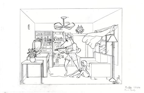 0 Point Perspective Drawing by Creation 1 Point Perspective Room By Bigsharkz