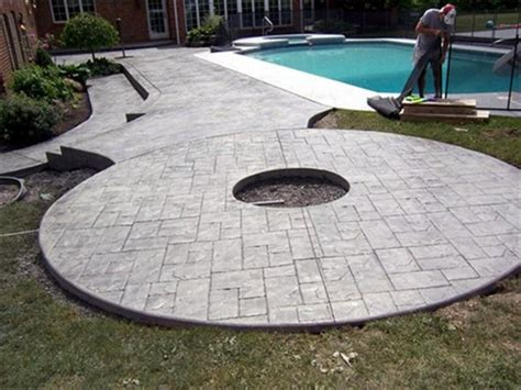 Firepit Pad Sted Concrete Driveways Patios Foundations Decorative Concrete