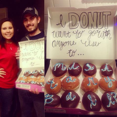 donut prom proposal i donut with my love pinterest donuts other and