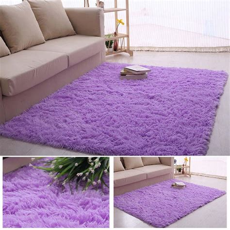 purple fluffy rug fluffy rugs anti skiding shaggy area rug dining room carpet floor mats purple shaggy rugs shag