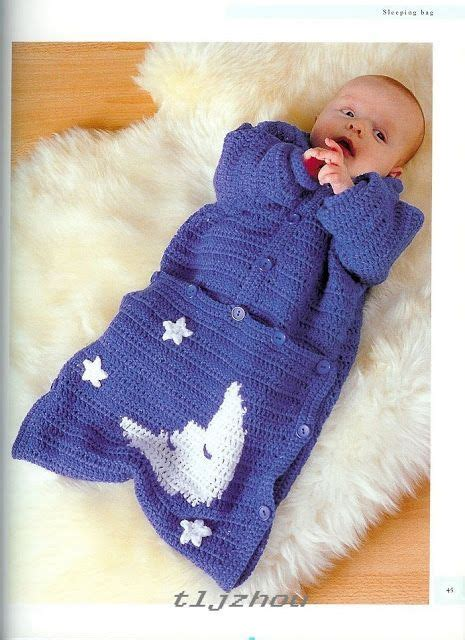knitted baby bunting bag pattern crochet knitting handicraft baby sleeping bag craft