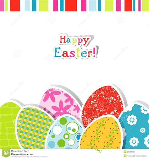 easter gift card template template easter greeting card royalty free stock