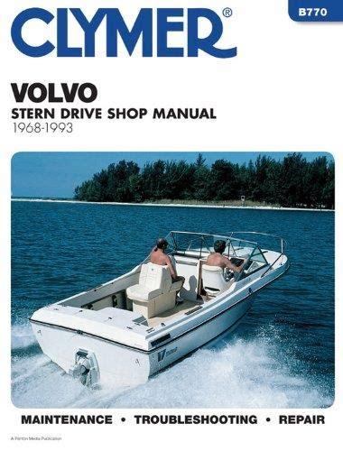 volvo penta stern drives   clymer owners marine service repair manual
