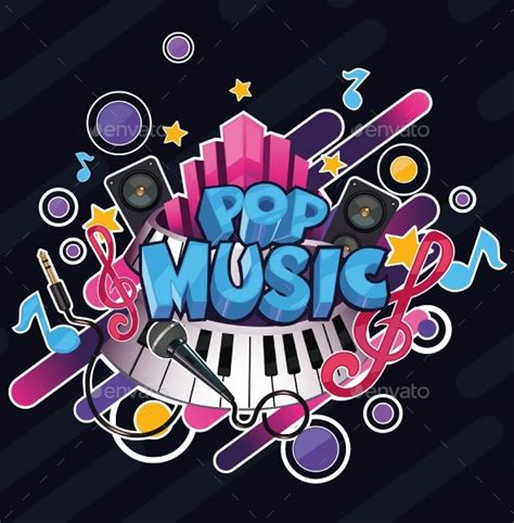 popmusic com cartoon pop music illustration by ibrahimovstudio