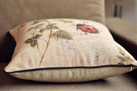 Katun Linen Impor New Cotton Linen new 45x45 vintage insect series cotton linen throw pillow cushion cover ebay