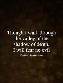 The Valley Of Fear Book Report by Though I Walk Through The Valley Of