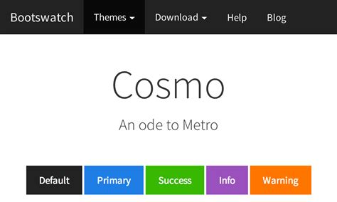 themes bootstrap cosmo bootswatch free themes for bootstrap