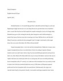 Persuasive Essay On Organ Donation by Organ Donation Research Paper
