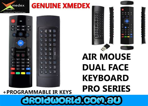 android air xmedex pro android dual remote air mouse keyboard droidworld android smart tv box