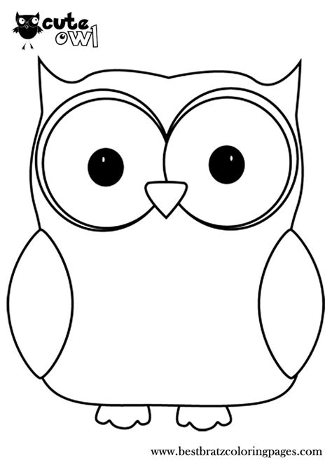 printable outline of an owl owl coloring pages print free printable cute owl coloring