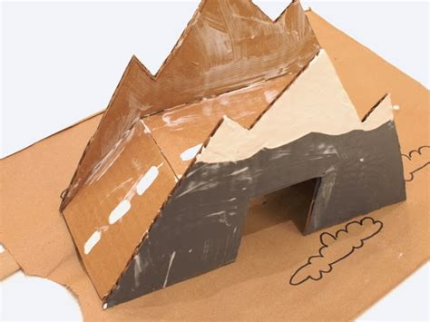 How To Make A Mountain Model Out Of Paper - make a cardboard bridge for trains and cars pink stripey