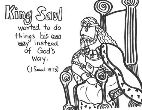 coloring pages for king saul saul coloring page pictures