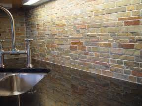rock tile backsplash unique kitchen backsplash design ideas for house