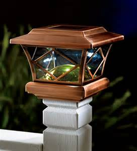 solar powered porch light set of 2 mission solar powered post cap lights with