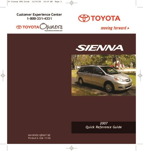 where to buy car manuals 2007 toyota sienna instrument cluster 2007 toyota sienna reference owners guide