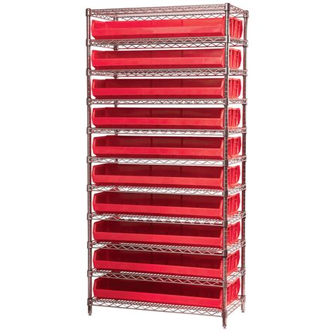 stackable storage bin racks rack systems wire