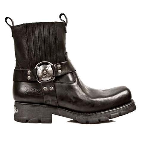 motorcycle half boots new rock m 7605 s1 motorcycle black half boots leather