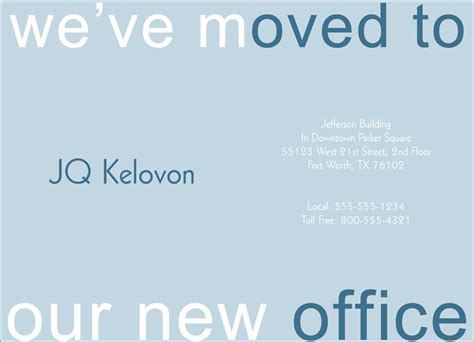 we moved card template blue we ve moved card moving announcements from cardsdirect