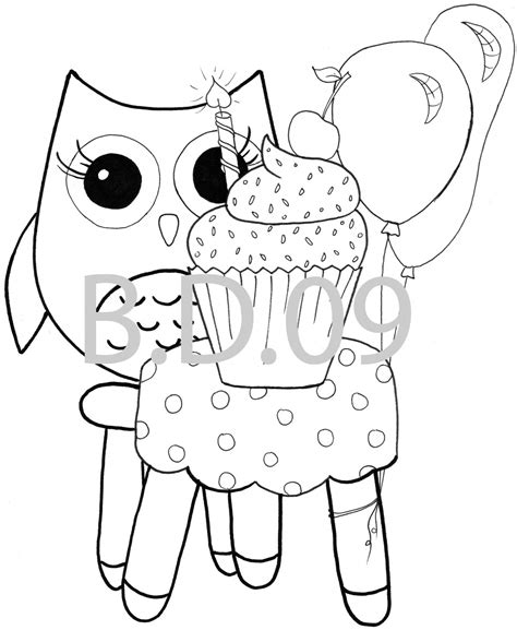 Coloring Pages Owl Themed 10 Pc Baby Owl Coloring Page