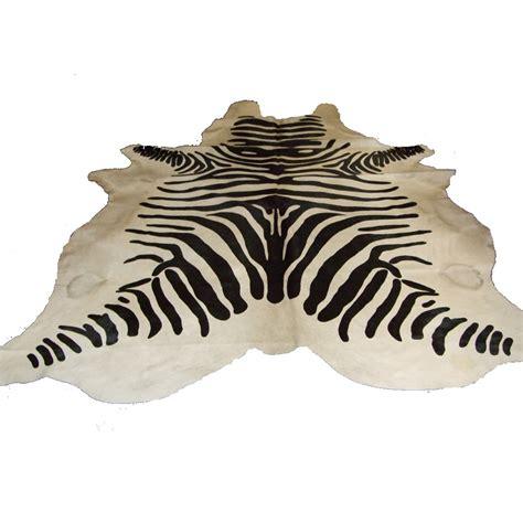 Cowhide Zebra Rug by Zebra Print Cowhide Rug Bedroom Company