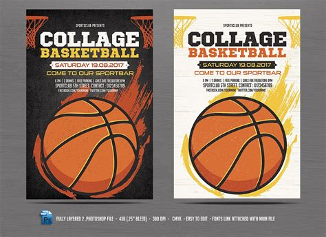 basketball flyer exle basketball flyer template vector free