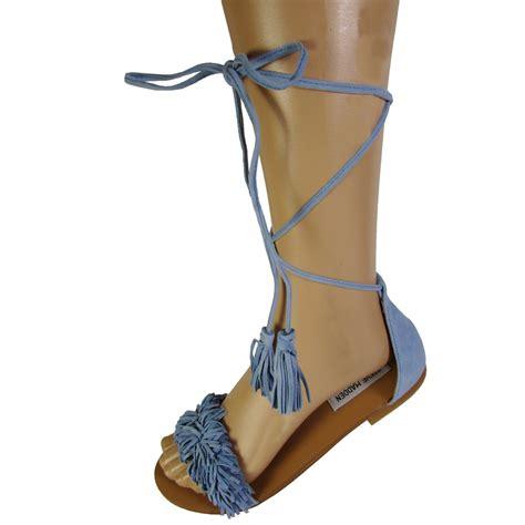 Steve Madden Sandals by Steve Madden Womens Sweetyy Fringe Flat Sandal Shoes Ebay