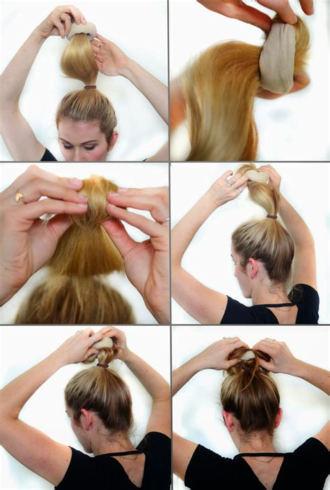 how to do diy sock hair buns with bows how to curl your hair without heat style wile