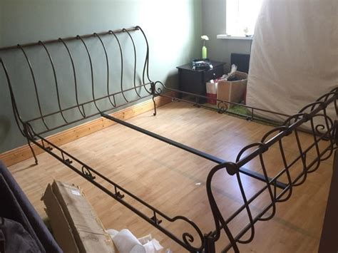 beautiful bronze cast iron sleigh bed reduced for sale in