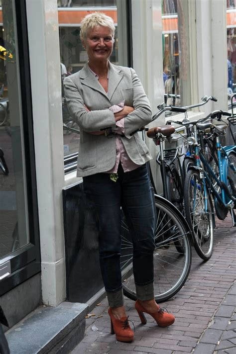 chic looks for 52 year old streetstyle in the netherlands