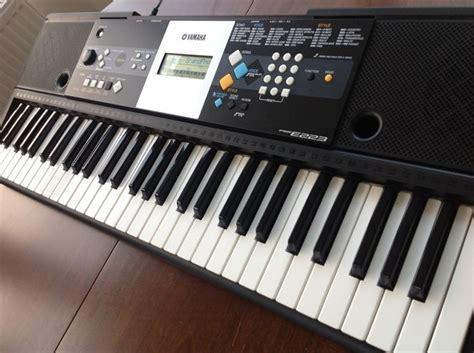 Keyboard Yamaha E223 yamaha psr e223 keyboard with 61 375 sounds portable grand piano and midi catawiki