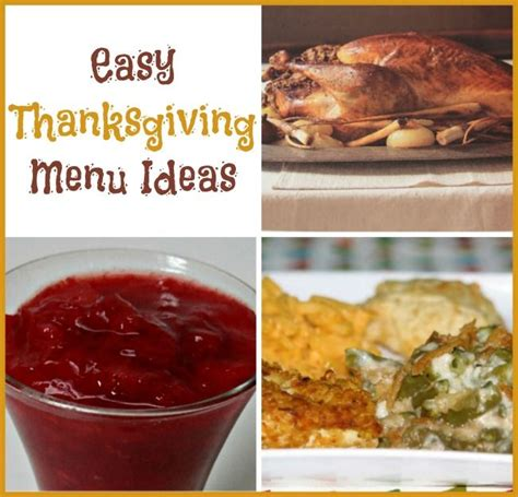 Thanksgiving Giveaway Ideas - easy thanksgiving menu ideas