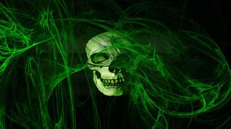 wallpaper green skull green skull wallpaper