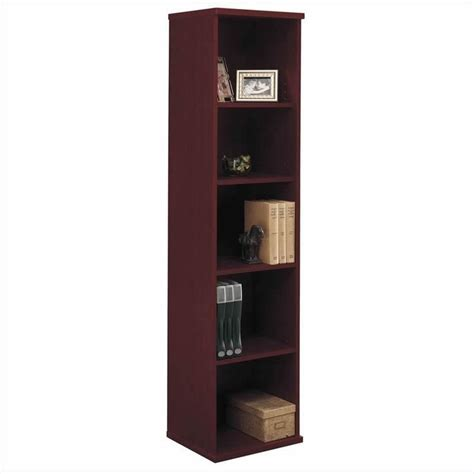 L Shaped Desk With Bookcase Bush Business Series C 3 L Shape Desk With Bookcase In Mahogany Bsc060 367